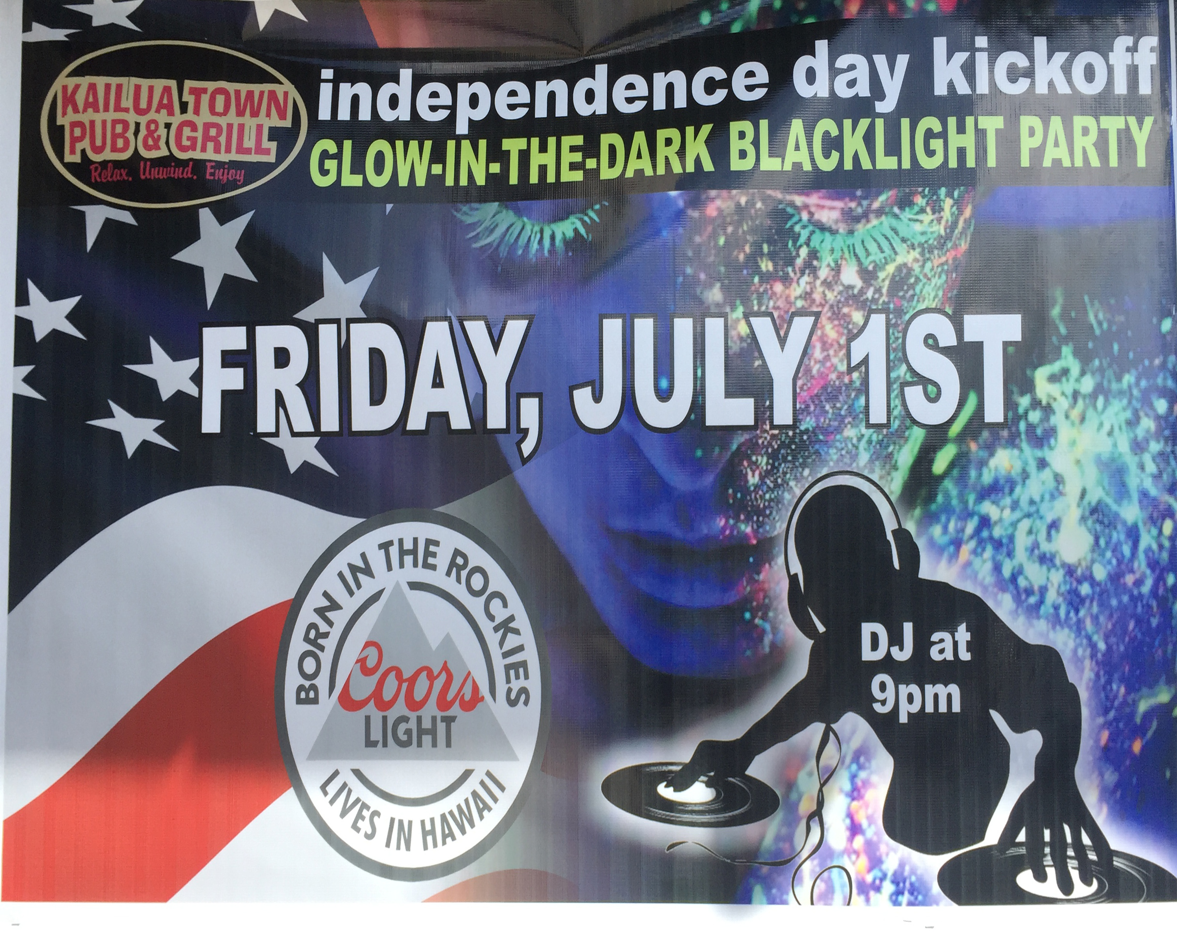 Kailua pub independence kick off party